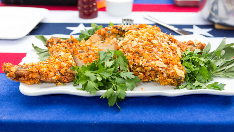 Sunny Anderson's Grilled BBQ Chip Pork Chops