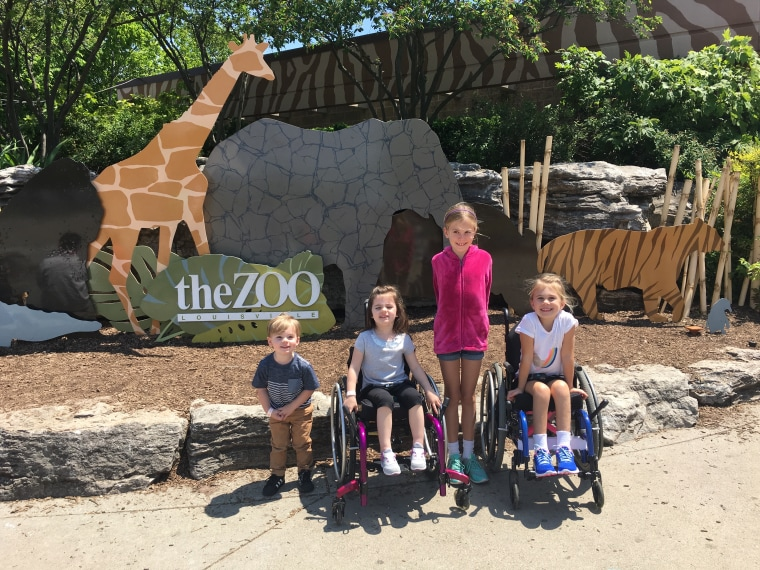 Eden visits the local zoo with new friends.