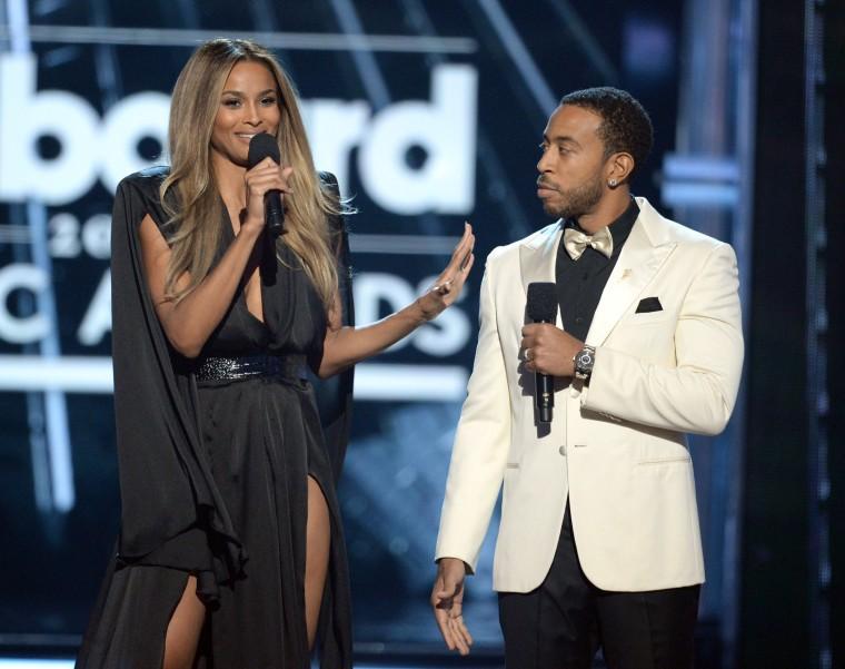 Image: Co-hosts Ciara and Ludacris speak onstage