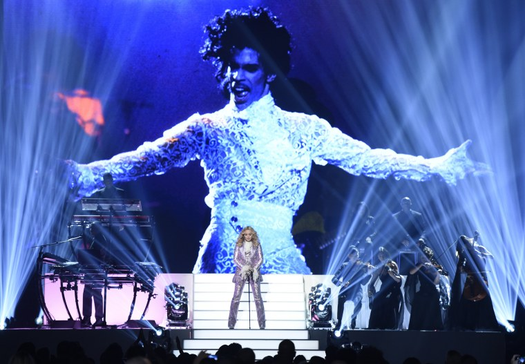 Image: Madonna performs a tribute to Prince
