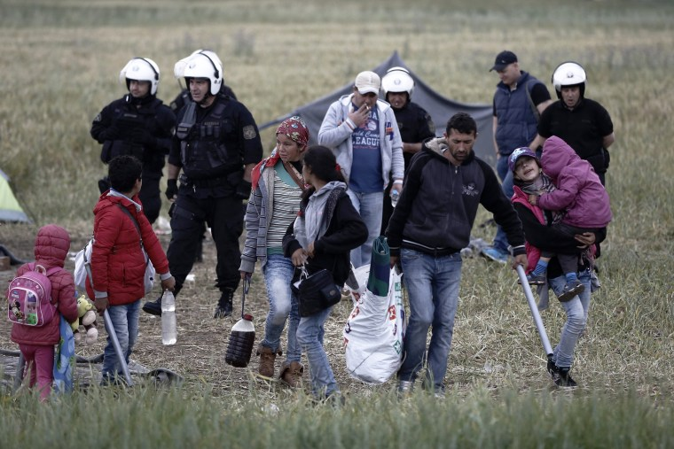 Image: Transport of refugees from Idomeni to accommodation centres