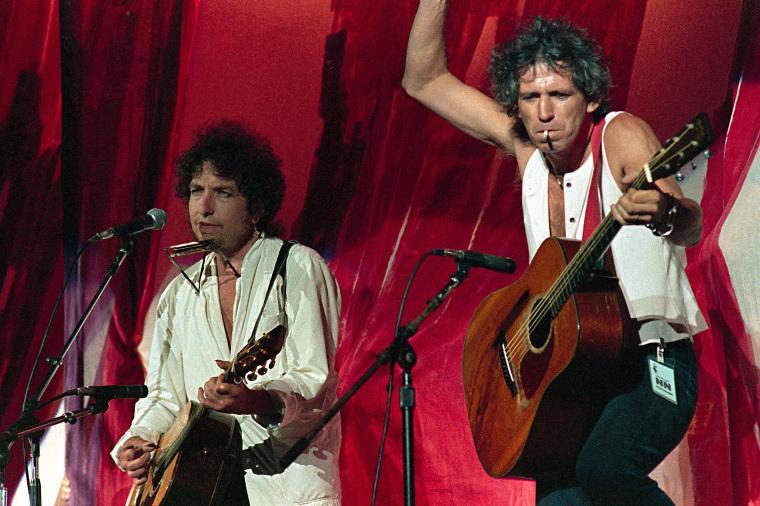 Bob Dylan and Keith Richards Live Aid