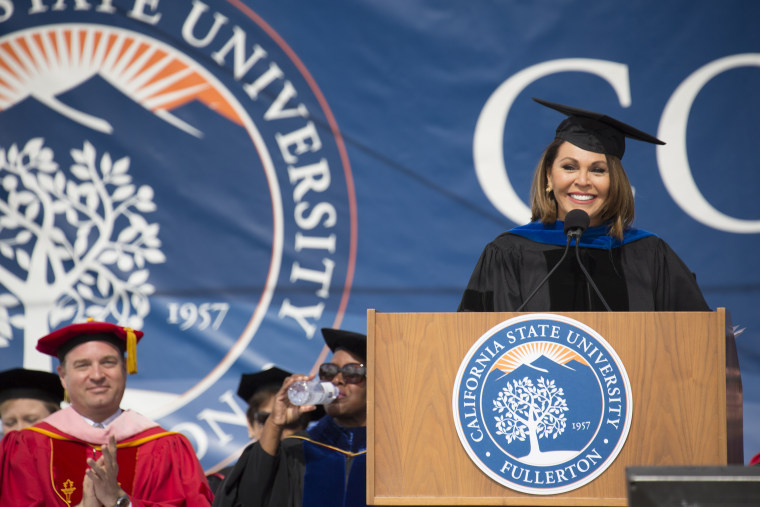 Image: Univision News Anchor and Commencement speaker Mar?a Elena Salinas