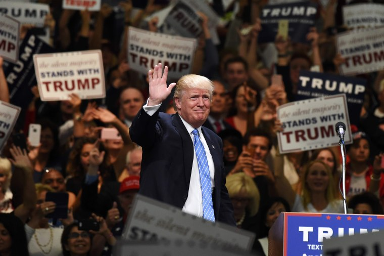 Image: Trump addresses a rally in Anaheim
