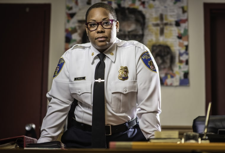 Maj. Sheree Briscoe of the Baltimore City Police Dept. is the newest commander of the city's Western District. The area is where Freddie Gray was arrested in April 2015; Briscoe was part of a leadership change after Gray's death in police custody.