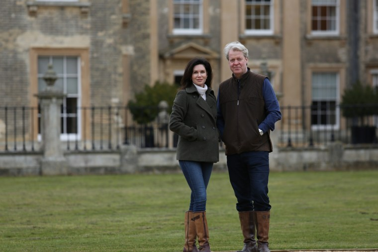 Image: Karen and Charles Spencer at the Althorp estate.