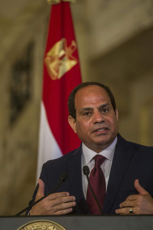 Image: Egyptian President Abdel-Fattah el-Sissi on April 17, 2016
