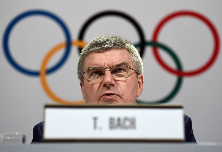 Image: International Olympic Committee president Thomas Bach
