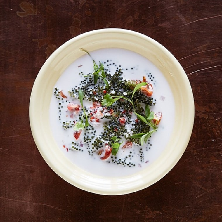 Nama sea pearls from chef Louis Tikaram's E.P. Restaurant in Los Angeles.