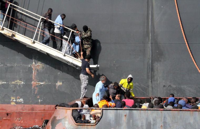Image: TOPSHOT-LIBYA-EUROPE-MIGRANTS