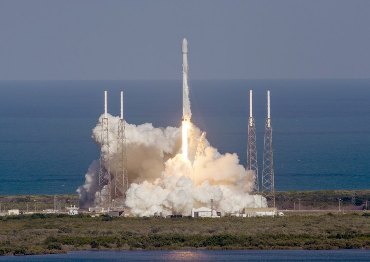 In this image released by SpaceX, an unmanned Falcon rocket lifts off from from Cape Canaveral Air Force Station, Friday, May 27, 2016, in Cape Canaveral, Fla.