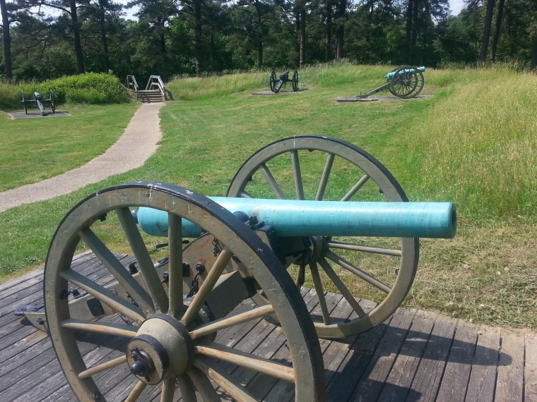 This photo provided by the National Park Service shows Petersburg National Battlefield.