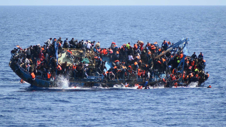 Refugees off the Libyan cost