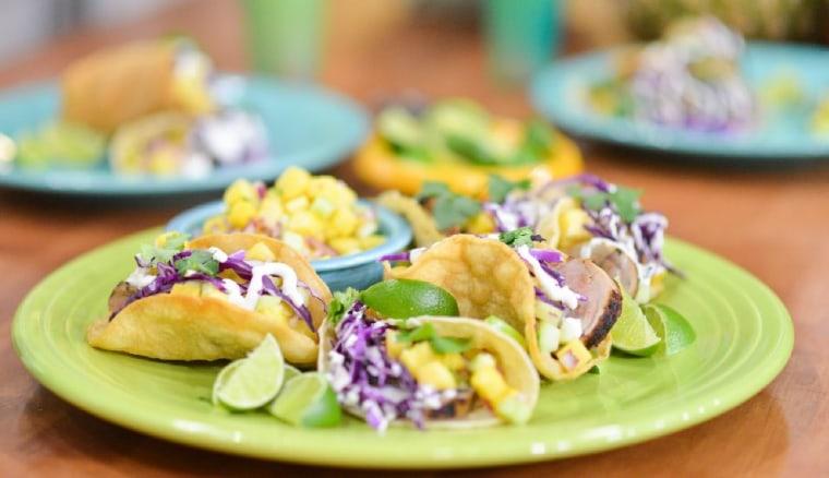 Katie Lee makes pork tenderloin tacos