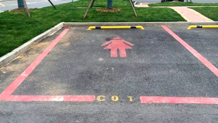 Parking spaces for women in China