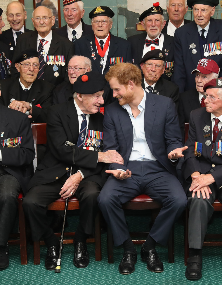 Image: Prince Harry Attends Reception For Normandy Veterans
