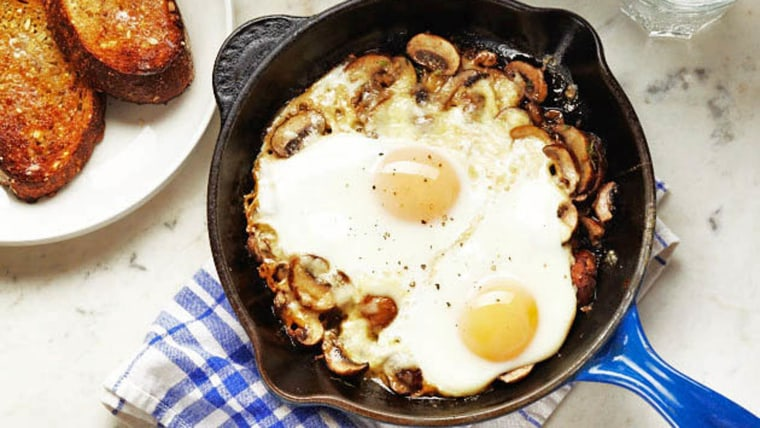 Father's Day Breakfast: Baked Eggs with Mushrooms