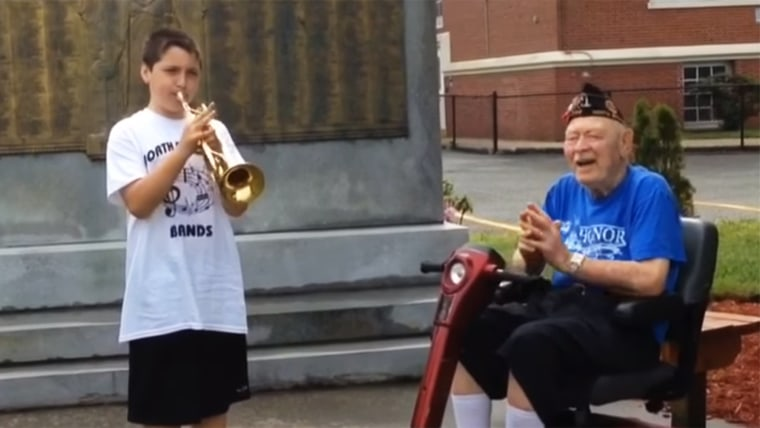 Canceled parade inspires 11 year old to honor WWII Vet in his own way