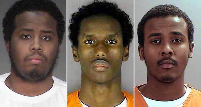 Mohamed Abdihamid Farah, Guled Omar, Abdirahman Yasin Daud