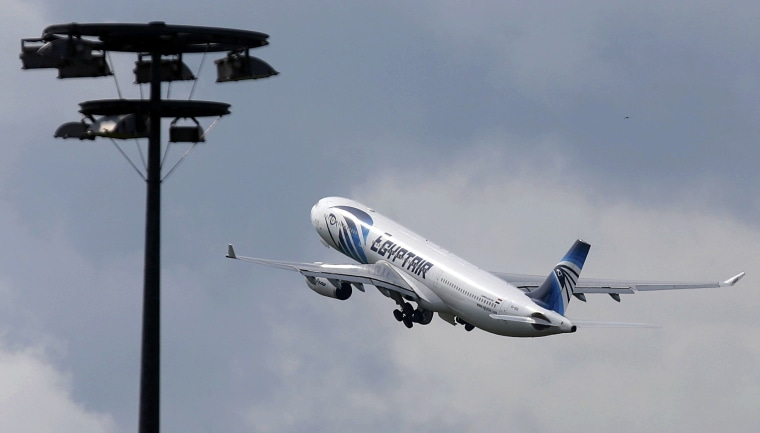 Image: The EgyptAir plane making the following flight from Paris to Cairo takes off from Charles de Gaulle airport in Paris