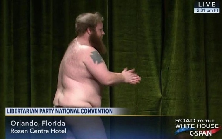 IMAGE: Striptease at Libertarian convention