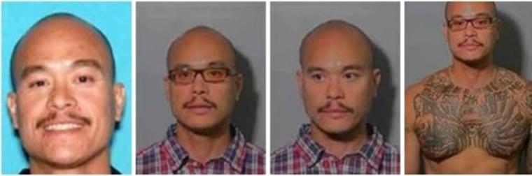 Philip Patrick Policarpio in four photos released by the FBI.