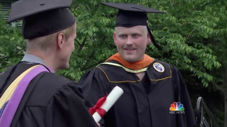 IMAGE: Evan Cole graduates