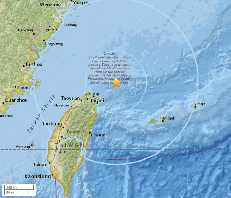 IMAGE: Earthquake near Taiwan