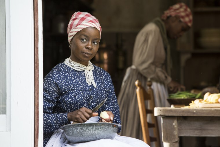 "Actress Erica Tazel stars as Matilda on the HISTORY event series, ""Roots."""