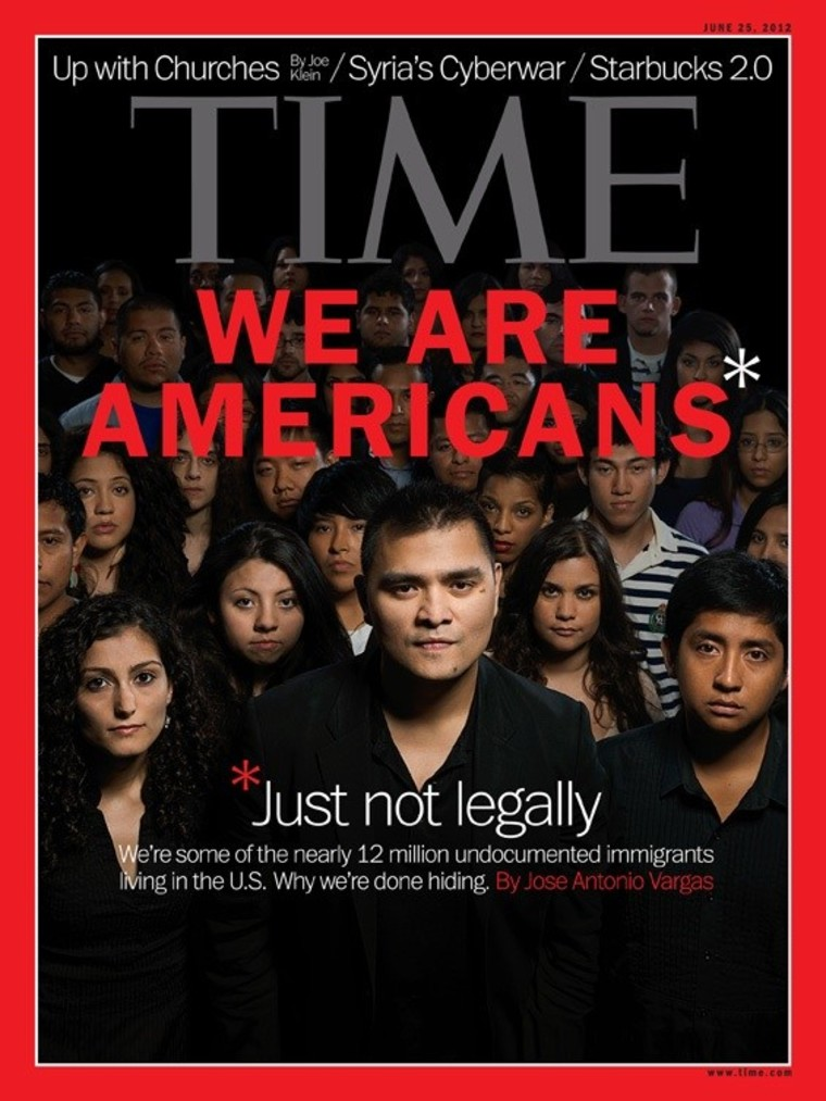 A 2012 Time magazine cover featured undocumented immigrants living in the U.S.
