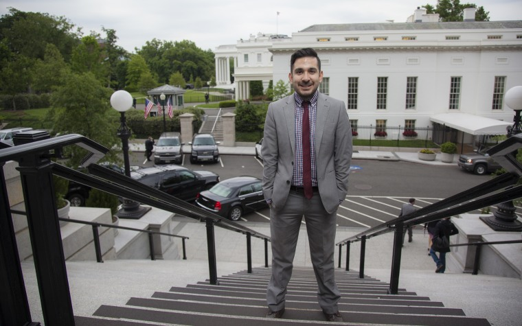 Image: Young Latinos of the Obama White House . Former staffer Tom?s Talamante.
