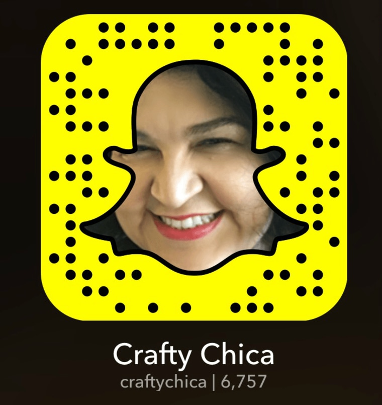 @CraftyChica on Snapchat.