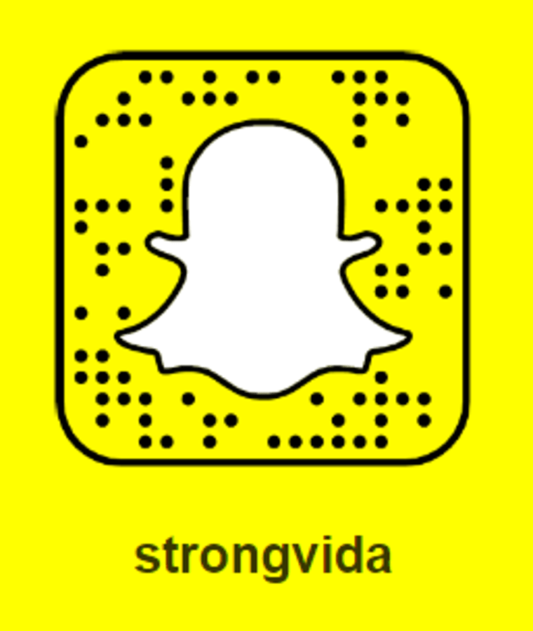 @StrongVida on Snapchat.