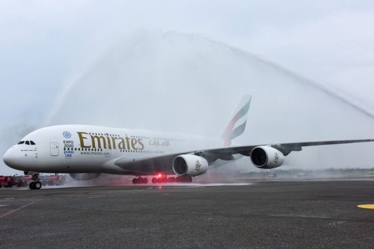 Image: A file photo of an Emirates A380