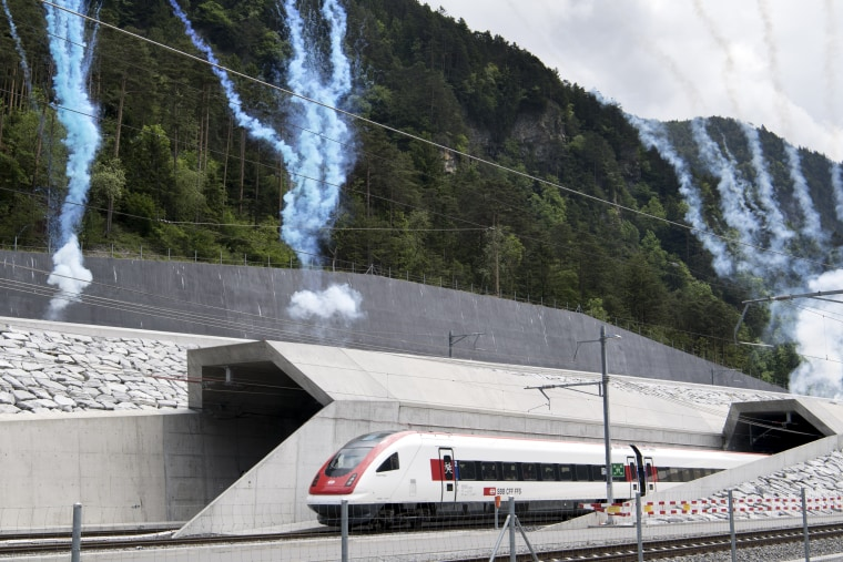 Gotthard Rail Tunnel, World's Longest and Deepest, Opens Under Swiss Alps