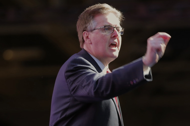 Lt. Gov. Dan Patrick speaks at the Republican Party of Texas State Convention at the Kay Bailey Hutchison Convention Center, Thursday, May 12, 2016 in Dallas.