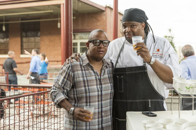 Left to Right: Georgia-based chefs Todd Richards and Duane Nutter.