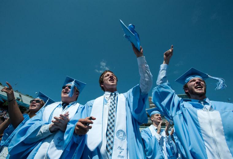 Image: UNC grads celebrate at commencement