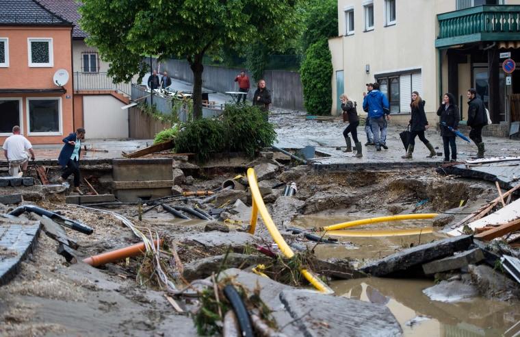 Image: TOPSHOT-GERMANY-FRANCE-FLOOD-WEATHER