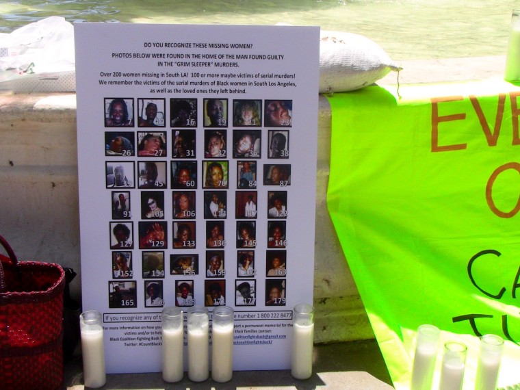 The Black Coalition Fighting Back Serial Killers held a vigil to honor the victims of the Lonnie Franklin Jr.