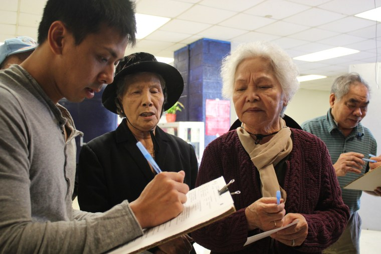 VAYLA New Orleans executive direct Minh Thanh Nguyen registering Asian-American voters in Louisiana.