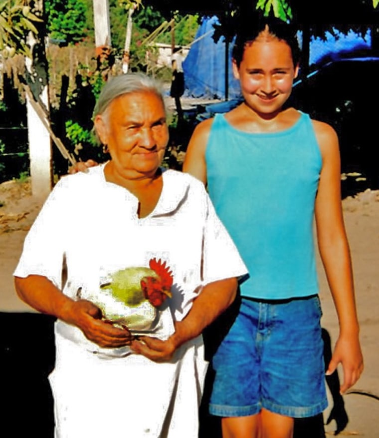 Lucy, the daughter of Linda and Sixto Valdez, is photographed here with her grandmother, Doña Sole, during a trip to Mexico.