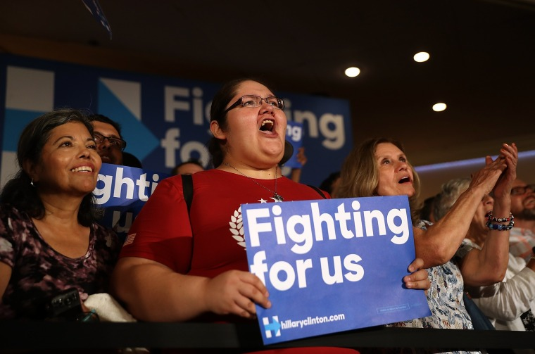 Image: Hillary Clinton Campaigns In Southern California