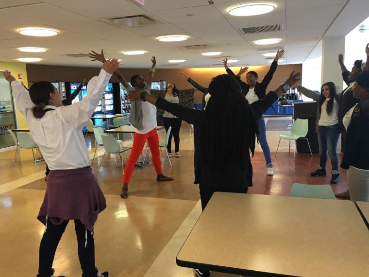 Hollis Heath works with students across New York City, teaching them important life skills through drama.