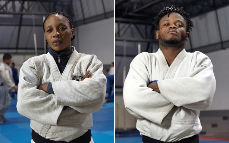 Image: Yolande Mabika, left, and Popole Misenga, right, both originally from Democratic Republic of the Congo