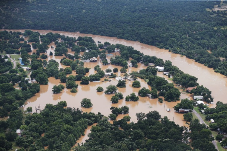 Image: Aerial Photos: Brazos river flooding