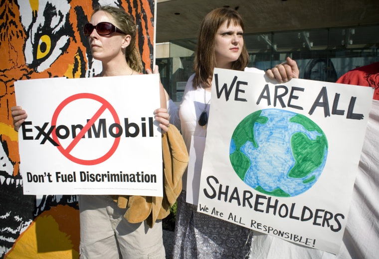 Image: ExxonMobil Holds Annual Shareholder Meeting In Dallas