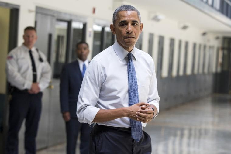 Image: Barack Obama at the El Reno Federal Correctional Institution in El Reno, Okla.