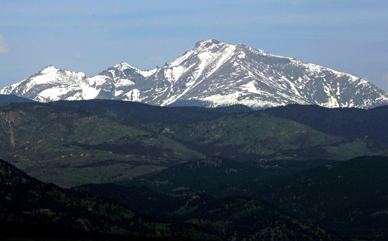Image: Long's Peak in Rocky Mountain National Park is seen from Boulder