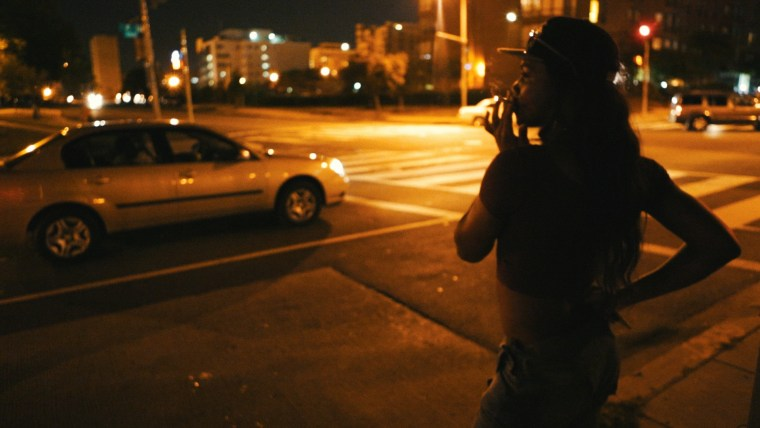 A member of the group Check It, an all-LGBTQ gang in Washington, D.C., that is the subject of a new documentary.